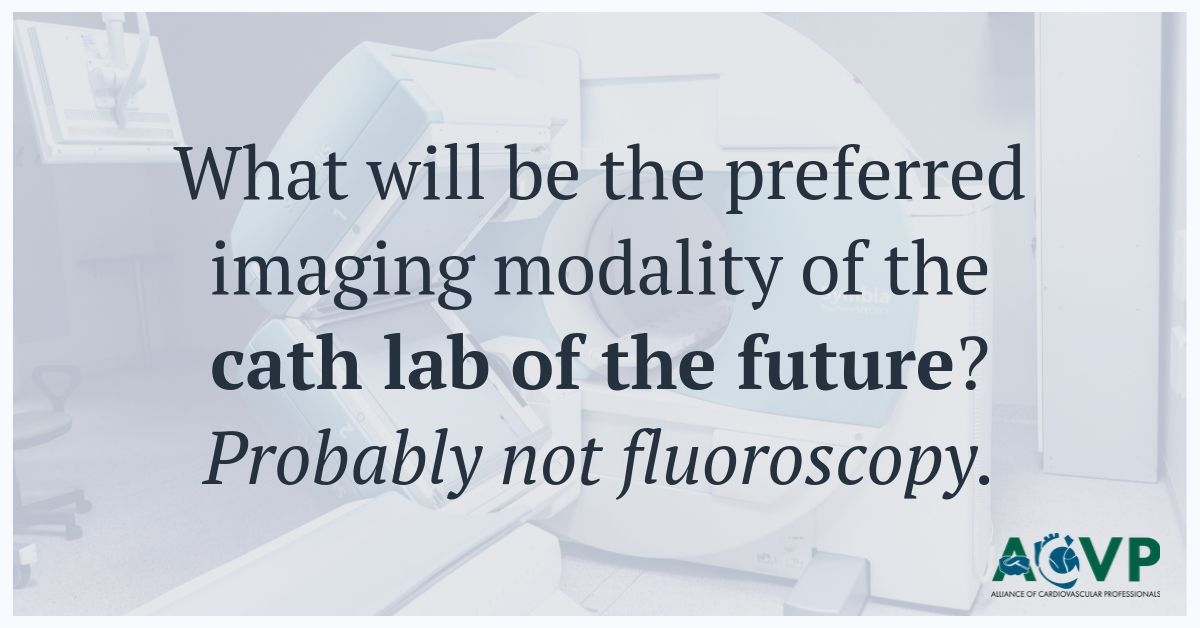 What will be the preferred imaging modality of the cath lab of the future?