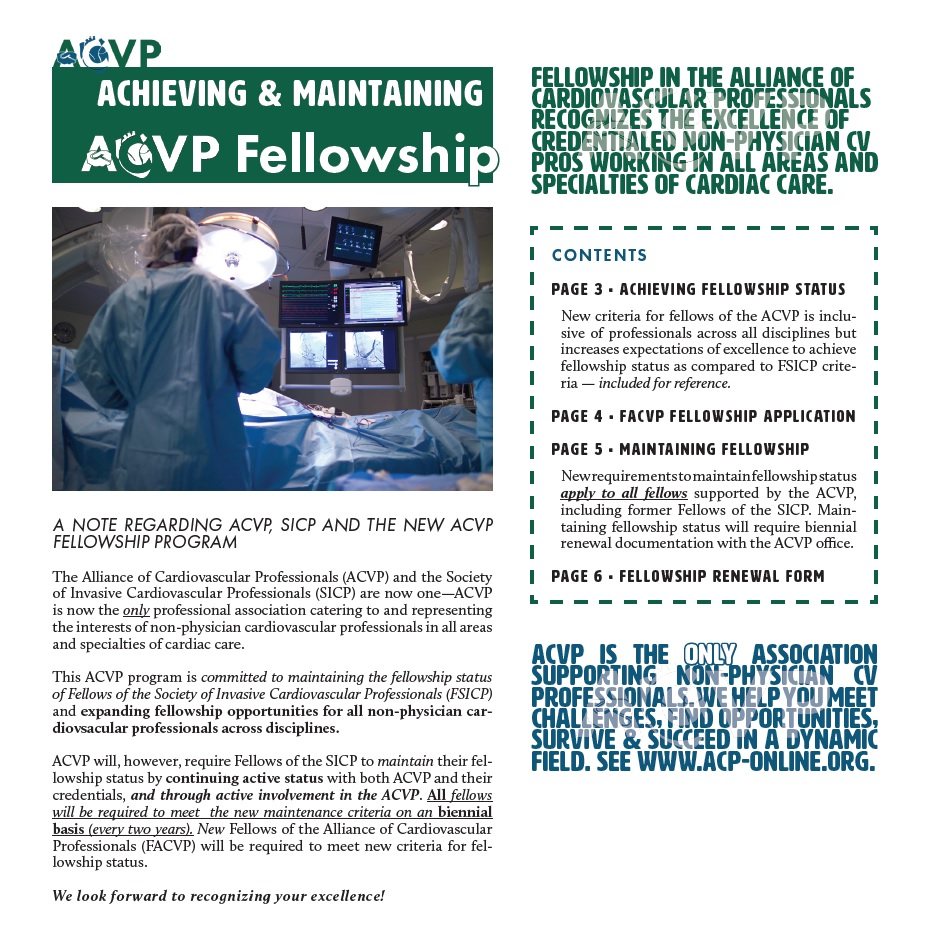 ACVP Fellowship Documents: Details and Forms