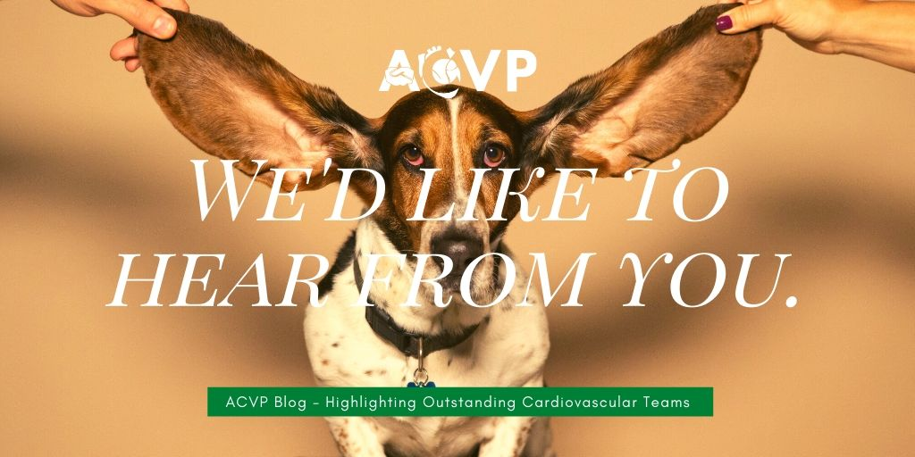 We'd like to hear from you! ACVP Blog - Highlighting Outstanding Cardiovascular Teams