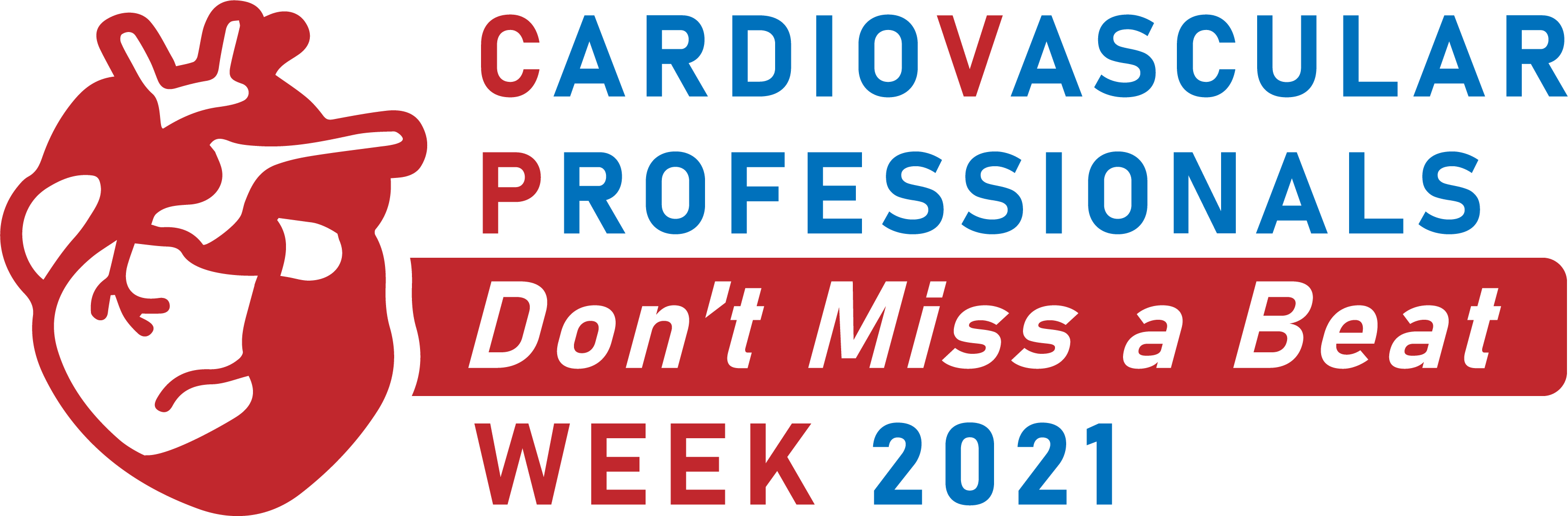 Official CVP Week 2021 Logo: Cardiovascular Professionals Don't Miss a Beat